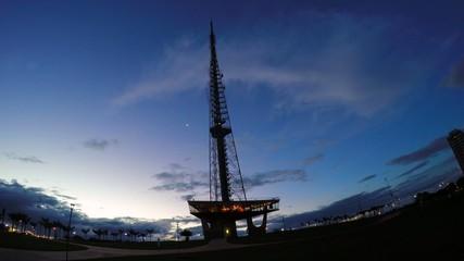 The Telecommunication Tower in Brasilia, Brazil