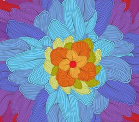 doodle florals art background
