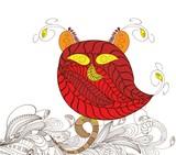 owl doodle art poster