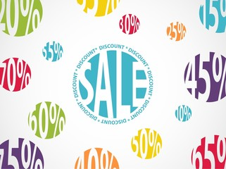 Sale background with discount