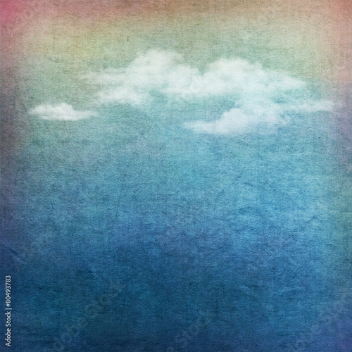 Vintage sky clouds textured background © Nadezda Kostina