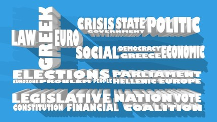 tags cloud relative for greece and europe conflict