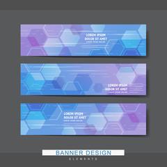 high-tech style banner template design