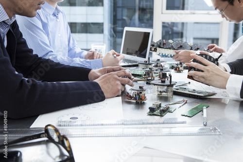 Leinwandbild Motiv Developers of speedometer