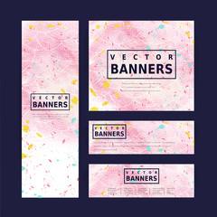 adorable pink banner template design