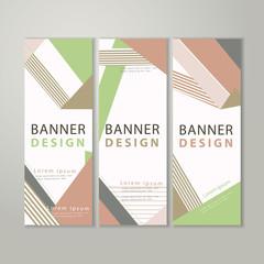 trendy banner template design