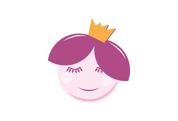 Cute Girl with Crown