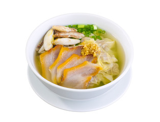 Dumpling soup with crab and pork, Thai style food