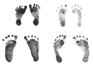 Newborn Baby Ink Footprints