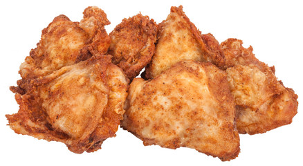 Fast Food. Fried chicken breast on white background