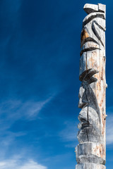 Wooden totem northern peoples