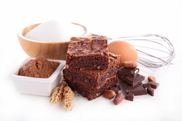 brownie and ingredients