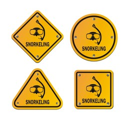 snorkeling roadsigns