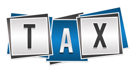 Tax Blue Grey Blocks