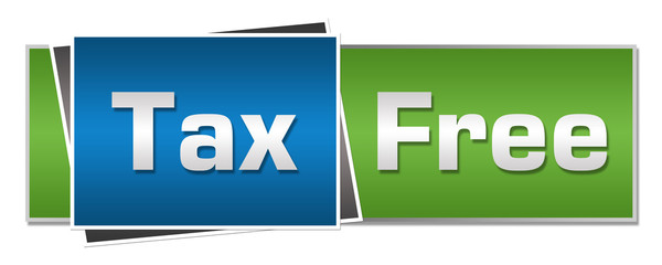 Tax Free Green Blue Horizontal