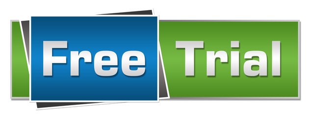 Free Trial Blue Green Horizontal