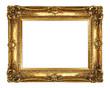 Leinwandbild Motiv Gold Picture Frame