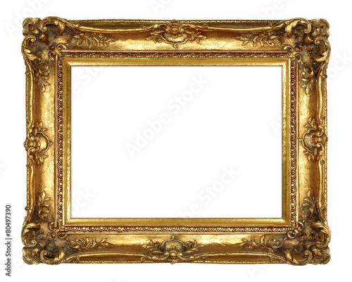 canvas print picture Gold Picture Frame