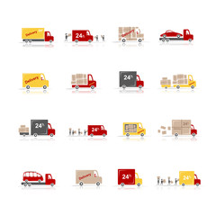 Delivery, set of 16 cars for your design