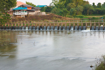 The small dam,northern of Thailand.