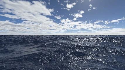 Wasseranimation - Wellen auf dem Ozean