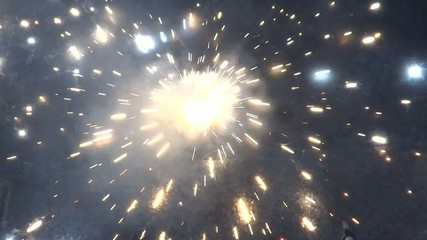 Charkhi firecracker spinning on floor.