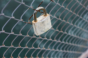 lock on the bridge