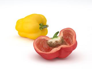 Paprika gelb rot