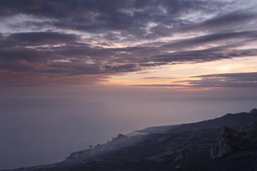 Black sea south coast at sunset