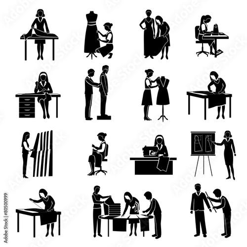 Dressmaker Icons Set - 80500999