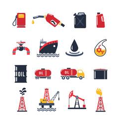 Petroleum Industry Icon Set