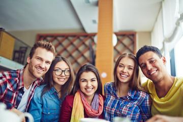 Five joyful friends