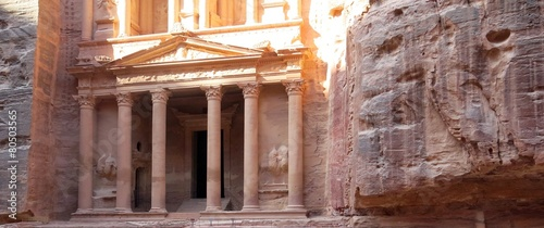 obraz PCV Miasto Petra w Jordanii na Bliskim Wschodzie