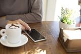 phone love coffee