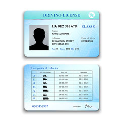 Driver License Illustration