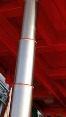 stainless steel Hydraulic cylinder below the caisson tipper truc