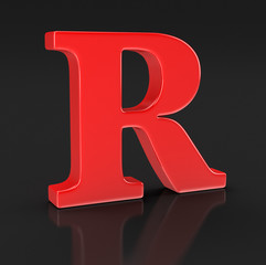 Letter R (clipping path included)