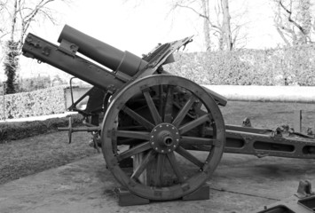 old gun of World War I in open-air museum
