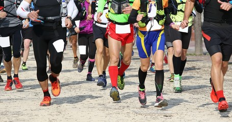 many adult athletes run in the outdoor race