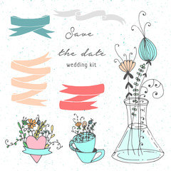 Save the date handdrawn kit