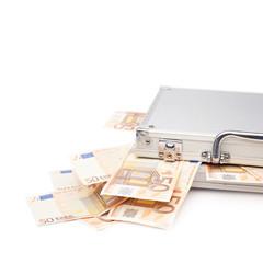 Suitcase full of money