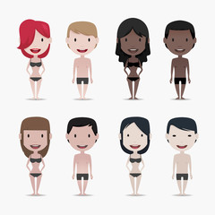Naked Group of people