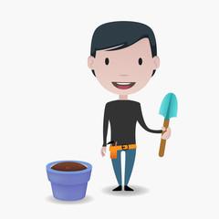 Man & Gardening