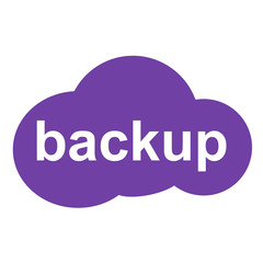 Icono texto backup en nube