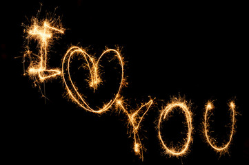 sparkler i love you