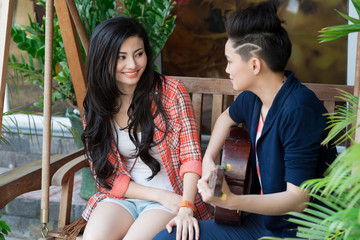 Vietnamese lesbian couple
