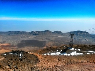 Teide National Park at Tenerife with funicular, Canary island