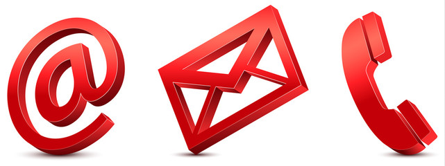 Contact Us – Red Icons 3D