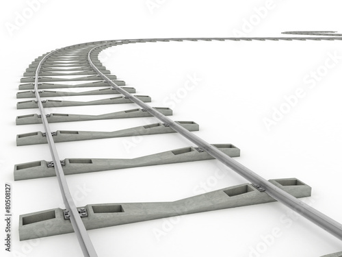 Tracks on a white background. 2 - 80508127