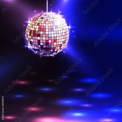 Disco Ball Background - 80508172